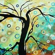 Abstract Art Landscape Circles Painting A Secret Place 3 By Madart Art Print