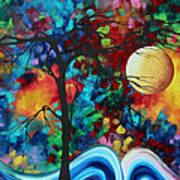 Abstract Art Original Enormous Bold Painting Essence Of The Earth I By Madart Art Print by Megan Duncanson