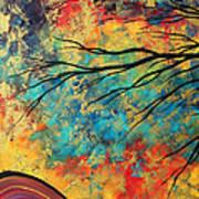 Abstract Art Original Landscape Painting Go Forth I By Madart Studios Art Print
