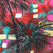 Abstract Art Original Tropical Landscape Painting Fun In The Tropics By Madart Art Print by Megan Duncanson