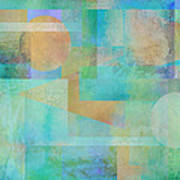 abstract art Tahitian Blue Art Print