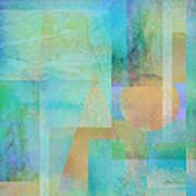 abstract - art- Tahitian Blue Square Art Print
