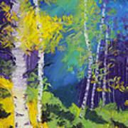 Abstract Aspens Art Print