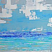 Silver Sky Beach Art Print
