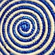 Abstract Blue Swirl Art Print