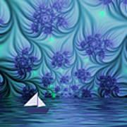 Abstract Blue World Art Print