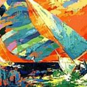 Abstract Boat Ride  Art Print