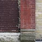 Abstract Brick Wall 1 Art Print
