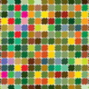 Abstract Bright Colorful Seamless Art Print