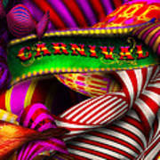 Abstract - Carnival Art Print