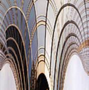 Abstract Chicago Sunrays On Trump Tower Art Print