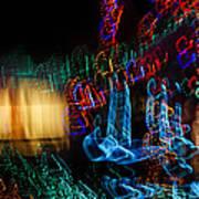 Abstract Christmas Lights - Color Twists And Swirls  Art Print