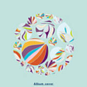 Abstract Circles Background -  With Art Print