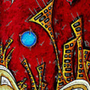 Abstract City Cityscape Art Original Painting Stand Tall By Madart Art Print