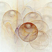 Abstract Colorful 3d Bubbles Fractal  Art Print