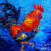 Abstract Colorful Gallic Rooster Art Print