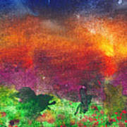 Abstract - Crayon - Utopia Art Print by Mike Savad