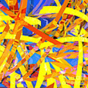 Abstract Curvy 22 Art Print