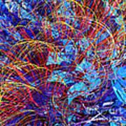 Abstract Curvy 36 Art Print