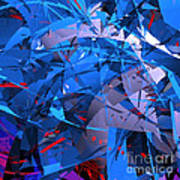 Abstract Curvy 9 Art Print