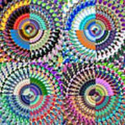 Abstract Digital Art Collage Art Print