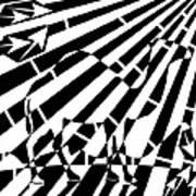 Abstract Distortion Camel Maze  Art Print