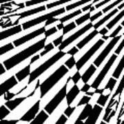 Abstract Distortion Sun Meditation Maze  Art Print