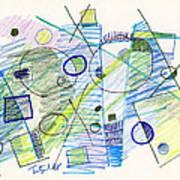 Abstract Drawing Seven Art Print