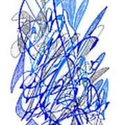 Abstract Drawing Seventy Art Print