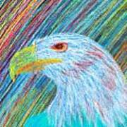 Abstract Eagle With Red Eye Print by Kenal Louis