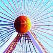 Abstract Ferris Wheel Art Print