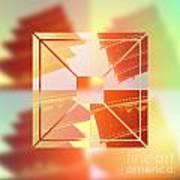 Abstract Five-storied Pagoda 1 Art Print