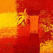 Abstract Floral - 6at01a Art Print