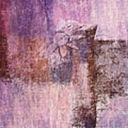 Abstract Floral- I55bt2 Art Print