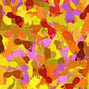 Abstract Footprints Art Print