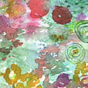 Abstract Garden Print by Linda Woods