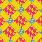 Abstract Geometric Colorful Seamless Art Print
