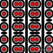 Pattern Black White Red Art No. 379. Art Print by Drinka Mercep