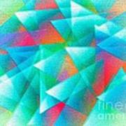Abstract Geometry Of Triangles In Digital Art Art Print by Mario Perez