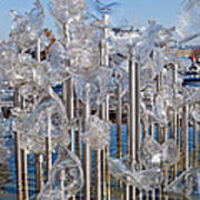 Abstract Glass Art Sculpture Art Print