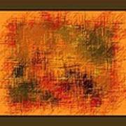 Abstract Golden Earthones With Quad Border Art Print