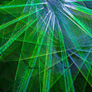 Abstract Green Lights Art Print