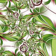 Abstract Green Plant Art Print