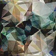Abstract Grunge Triangles Art Print