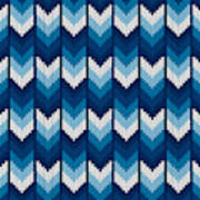 ec994fece Abstract Herringbone Knitted Sweater Pattern. Vector Seamless Background  With Shades Of Blue Colors. Wool