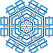Abstract Hexagonal Shape Art Print