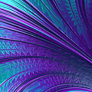 Abstract In Blue And Purple Art Print