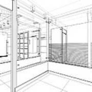 Abstract Interior Construction Art Print
