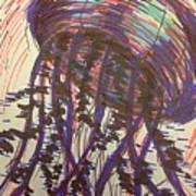 Abstract Jellyfish In Ink Art Print