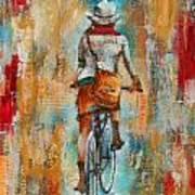 Abstract Lady 4  Art Print